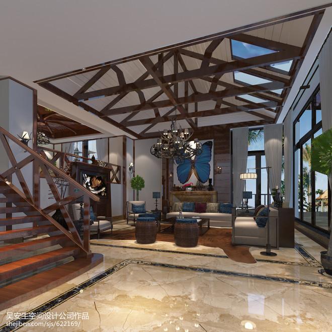 东南亚别墅客厅装修设计