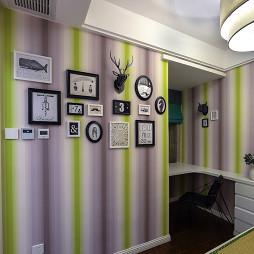 现代摩登照片墙装修图