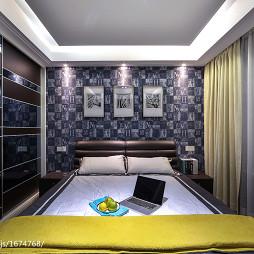现代摩登卧室背景墙设计装修图
