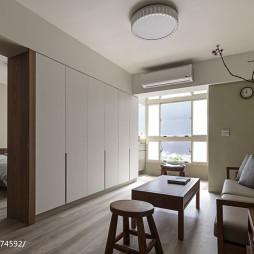 现代简约风客厅隐形门设计