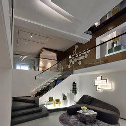 LOFT办公样板间楼梯效果图