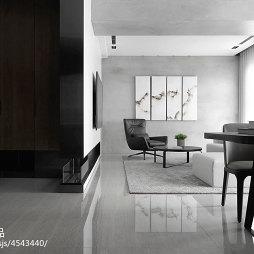 三居室现代客厅隔断设计