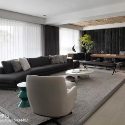 三居室现代客厅窗户设计