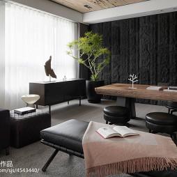 三居室现代休闲区窗户设计