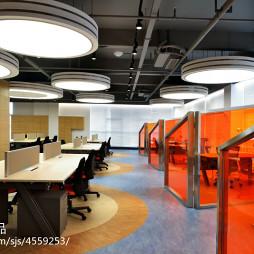 总部基地办公室隔断装修设计