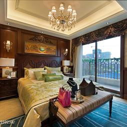 美式样板间卧室阳台装修设计