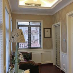 280平米别墅美式风格书房阳台设计