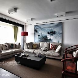 中式风格别墅客厅背景墙装修设计