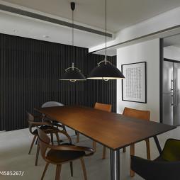 简约现代别墅餐厅背景墙设计