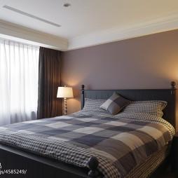 别墅混搭卧室窗帘设计