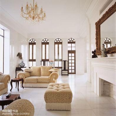 现代法式别墅客厅装修效果图