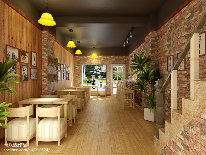 饮品店设计效果图片欣赏