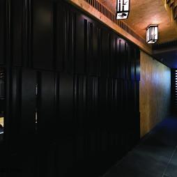 时尚中餐厅过道装修设计