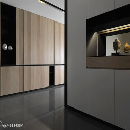 现代风格三居室玄关鞋柜装修设计