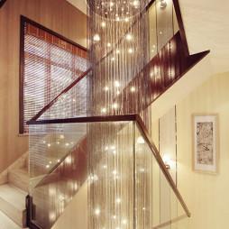 混搭风格楼梯别墅样板间设计图片