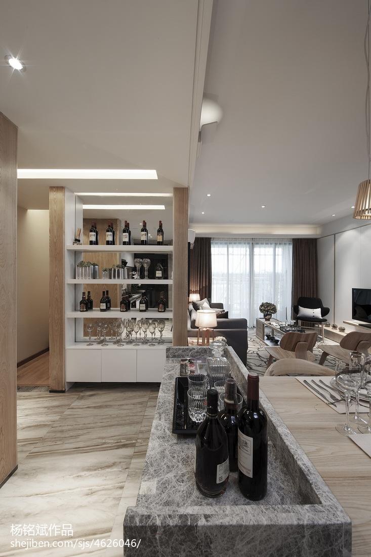 小厨房设计图片_二居小户型混搭客厅酒柜装修效果图 – 设计本装修效果图
