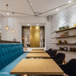 时尚小餐厅背景墙装修设计