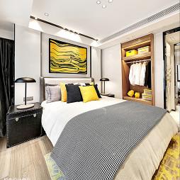 混搭风格卧室衣橱样板房设计图片