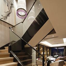 混搭风格行政公寓楼梯装修设计