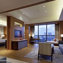 高级酒店客厅电视墙装修设计