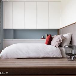 现代清新别墅卧室榻榻米装修效果图