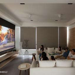 现代清新别墅视听室装修效果图