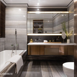 混搭风格卫生间浴柜样板间设计