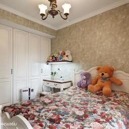 四居室美式儿童房嵌入式衣柜装修效果图