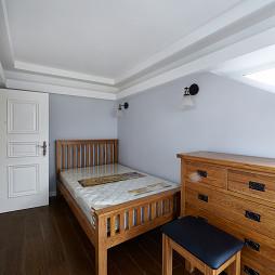 素颜简美复式卧室实木家具效果图