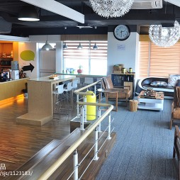 办公空间休闲区隔断装修设计