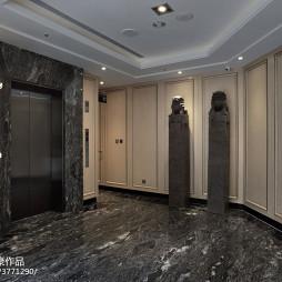 宾馆客房电梯间装修效果图