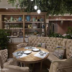 泰式火锅餐厅博古架设计