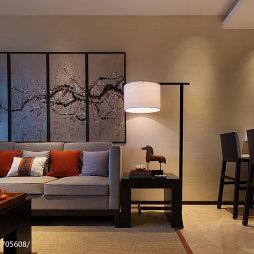 混搭客厅墙面漆画效果图