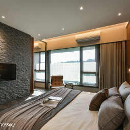 现代卧室窗帘效果图