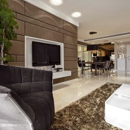 混搭客厅电视墙设计效果图库