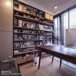 现代书房书柜效果图库大全