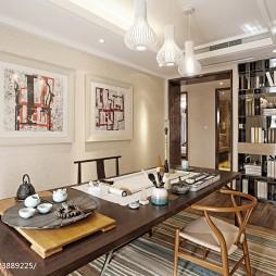 中式别墅书房地板装饰图片