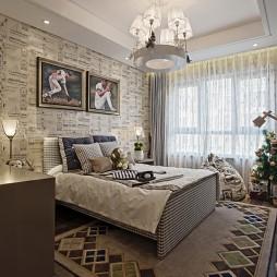 中式卧室窗帘效果图