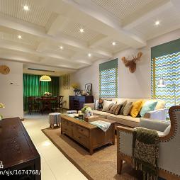复式楼混搭客厅吊顶装修设计