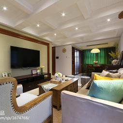 混搭风格客厅电视墙装修效果图大全