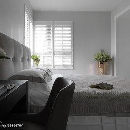现代卧室转角窗设计效果图