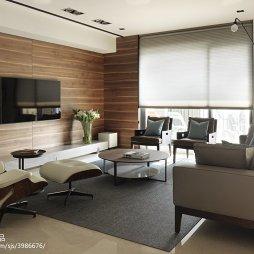 现代客厅电视墙设计装修图