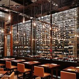 西餐厅酒柜设计