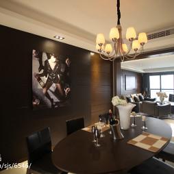 黑色系现代餐厅设计