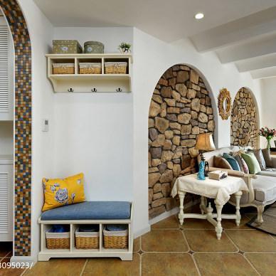 地中海风格客厅鞋柜设计
