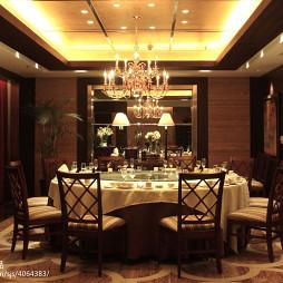 美式餐厅吊灯效果图