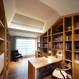 现代书房书柜效果图欣赏