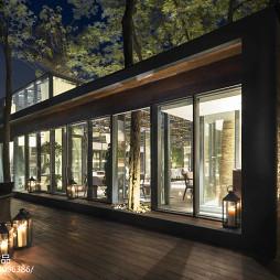 田园餐厅落地窗设计