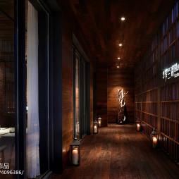 田园餐厅走廊设计