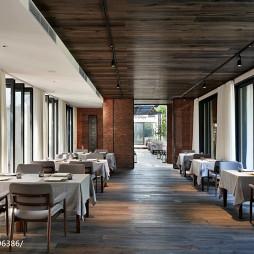 田园餐厅吊顶装修设计